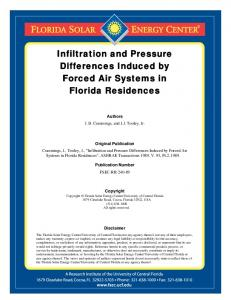 Infiltration and Pressure Differences Induced by Forced Air Systems in ...
