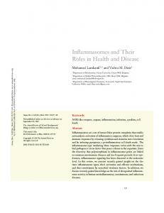 Inflammasomes and Their Roles in Health and