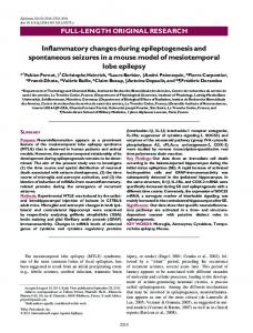 Inflammatory changes during epileptogenesis ... - Wiley Online Library
