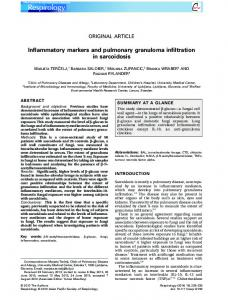 Inflammatory markers and pulmonary ... - Wiley Online Library
