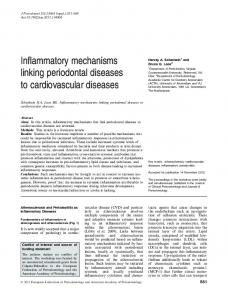 Inflammatory mechanisms linking periodontal ... - Wiley Online Library