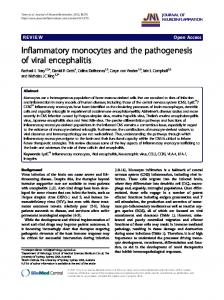 Inflammatory monocytes and the pathogenesis of ... - BioMedSearch