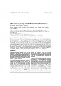 Inflammatory Response to Injectable Biomaterials for ... - medIND
