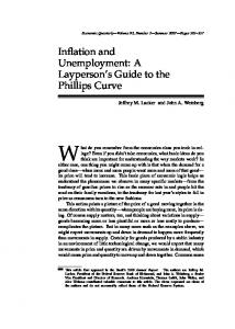 Inflation and Unemployment: A Layperson's Guide