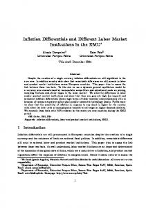 Inflation Differentials and Different Labor Market Institutions in ... - RePEc