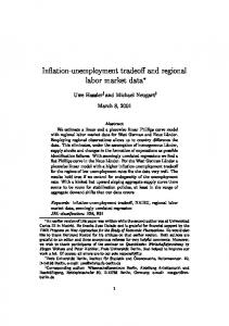 Inflation-unemployment tradeoff and regional labor ...