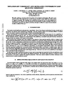 Inflationary Cosmology and Oscillating Universes in Loop Quantum ...