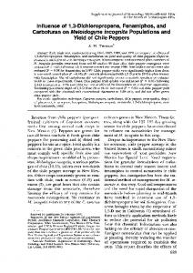 Influence of 1, 3-Dichloropropene, Fenamiphos, and Carbofuran on