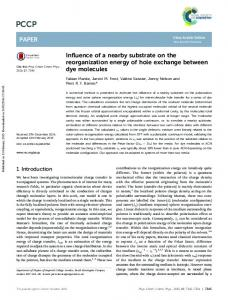 Influence of a nearby substrate on the reorganization