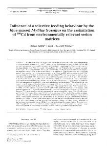 Influence of a selective feeding behaviour by the blue ... - Inter Research