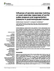 Influence of aerobic exercise training on post-exercise responses of ...