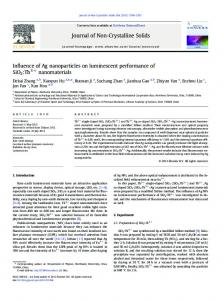 Influence of Ag nanoparticles on luminescent ...