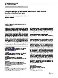 Influence of ageing on mechanical properties of wood ... - Springer Link