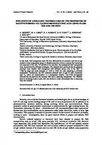 INFLUENCE OF ANNEALING TEMPERATURE ON THE ...
