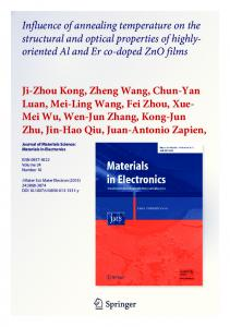 Influence of annealing temperature on the structural ...