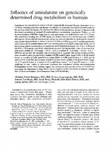 Influence of arniodarone on genetically determined ...