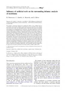 Influence of artificial reefs on the surrounding infauna: analysis of ...
