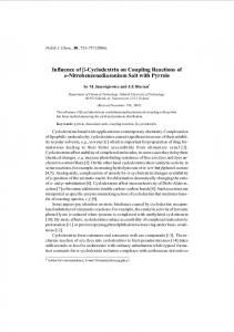 Influence of b-Cyclodextrin on Coupling Reactions of