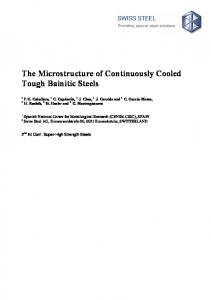 Influence of bainite morphology on toughness of