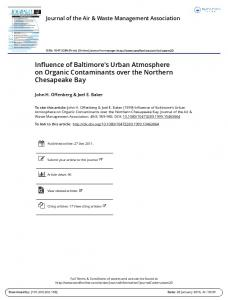 Influence of Baltimore's Urban Atmosphere on ...