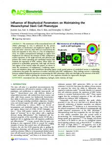 Influence of Biophysical Parameters on ... - ACS Publications