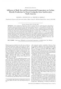 Influence of Body Size and Environmental Temperature on Carbon ...