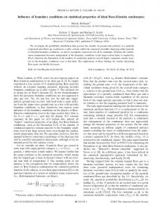 Influence of boundary conditions on statistical properties of ideal Bose