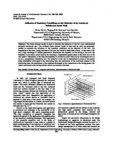 Influence of Boundary Conditions on the Behavior of an Anchored ...