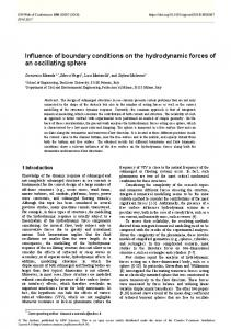 Influence of boundary conditions on the hydrodynamic forces of an