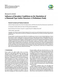Influence of Boundary Conditions on the Simulation of a Diamond ...