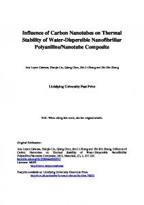 Influence of Carbon Nanotubes on Thermal Stability of Water ... - DiVA