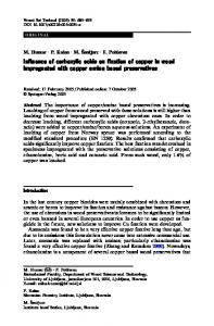 Influence of carboxylic acids on fixation of copper in wood ...