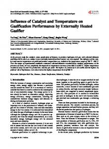 Influence of Catalyst and Temperature on Gasification ... - CyberLeninka