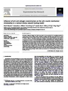 Influence of cell and collagen concentration on the ...