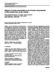 Influence of cerium concentration on the structure and properties of