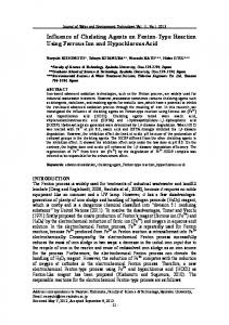 Influence of Chelating Agents on Fenton-Type Reaction ... - J-Stage