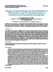 Influence of Chemical Reaction and Thermal Radiation on MHD ...