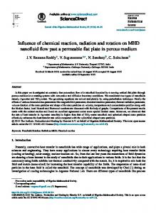Influence of chemical reaction, radiation and rotation on MHD ... - Core