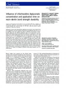 Influence of chlorhexidine digluconate ... - Wiley Online Library