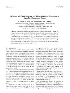 Influence of cobalt ions on the electrochemical properties of lamellar ...
