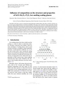 Influence of composition on the structure and