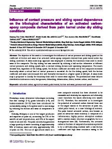 Influence of contact pressure and sliding speed dependence on the