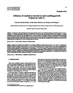 Influence of cotyledon removal on early seedling growth in ... - CiteSeerX