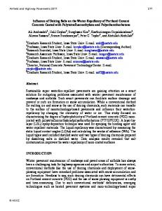 Influence of Deicing Salts on the Water-Repellency of Portland ...