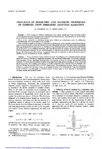 influence of dielectric and magnetic properties of