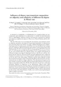 Influence of dietary macronutrient composition on ...