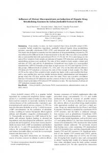 Influence of Dietary Macronutrients on Induction of Hepatic ... - J-Stage