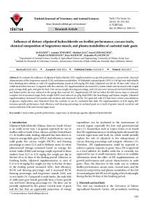 Influence of dietary zilpaterol hydrochloride on ... - Tubitak Journals