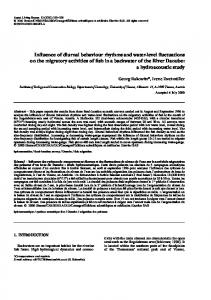 Influence of diurnal behaviour rhythms and water-level fluctuations on ...