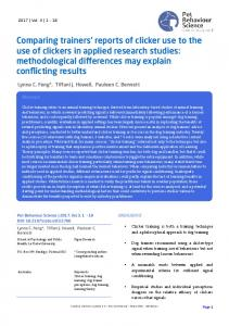 Influence of dog presence on the tolerance and evaluation - Uco